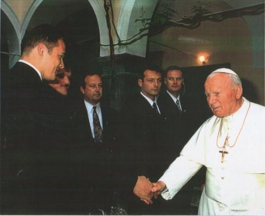 Robert in papež Janez Pavel II.