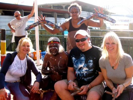 Robert with australian Aboriginal Elder Uncle Max